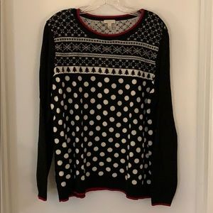 Black and red holiday sweater
